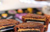 Oreo und Peanut Butter Brownie Kuchen