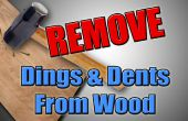 Holzbearbeitung-Hack - entfernen Dellen & Dellen aus Holz