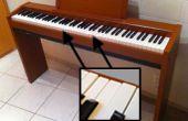 Ein E-Piano zu renovieren: Fix und polnischen gebrochen Schlüssel