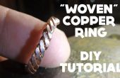 """""""Gewebt"""" Ring - DIY Tutorial Kupfer"""