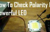 Polarität von leistungsstarken LEDs überprüfen