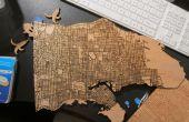 Laser schneiden Holz Karten mit öffentlichen Daten