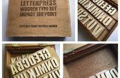 LASER schneiden Buchdruck Typ