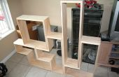 Bauen Sie eine Tetris-DVD (oder Buch) Regal