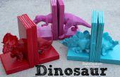 Dinosaurier-Buchstützen mit Heißkleber!