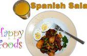 Einfache spanische Chorizo, Kartoffel, Ei, Bohnen-Salatrezept