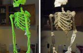 DIY Skelett aus Stöcken, String, Schaum und Pappmaché hergestellt '