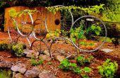 Stützräder: Fahrrad Rad Spalier mit Spalier-Apfelbaum