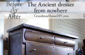 Vor und nach: die antike Kommode aus dem nichts