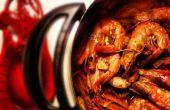 Thai-Cajun Hot Pot mit Garnelen