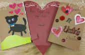 Schaltkreis-Valentinstag-Karte Papier