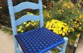 Stuhl Sitze mit Paracord weben