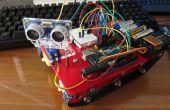 Meine sechste Projekt: Intelligente Tank-Chassis mit Ultraschall-Sensor