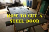 Wie zu schneiden und die Größe einer Stahl verkleidet Eingangstür