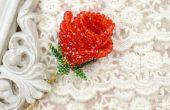 Wie erstelle ich ein 3D rot Perlen Rose für Freundin als Geschenk zum Valentinstag