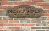 Rustikale Harley Davidson Zeichen