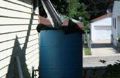Regen Wasser Kollektor Wasserturm w / Automatischer Überlauf