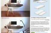 Minimale Float Wand Schreibtisch - schnelle Make-Over für Massenproduktion oder DIY