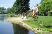 Teich springen Rampe