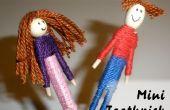 Junge und Mädchen Mini Zahnstocher Puppen