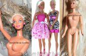 Wiederherstellung einer modernen Barbie-Puppe mit Haar verfilzt