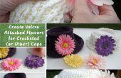 Erstellen Klettverschluss befestigt Blumen für gehäkelte (oder andere) Kappen