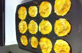 Ei, Schinken und Käse Frühstück Muffins (Gluten frei oder regelmäßige)