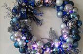 Beleuchtete Tardis Ornament Kranz