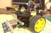 Einfache Linie Anhänger Roboter mit einem Actobotics Runt Rover sprießen