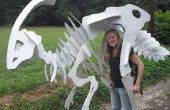 Billige Dinosaurier Skelett Kostüm