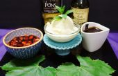 Hausgemachten Gourmet-Eis mit exquisiten Belag