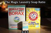 Wäsche Waschmittel nach Zahlen