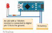 Blinkt die LED mit Arduino Nano