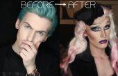 Vor und nach: junge Mädchen Dragqueen Transformation