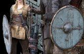 Wikinger-TV-Show Staffel 1: Ragnar und Lathgertha Kostüme mit Bonus-Haar-Anleitung wie man