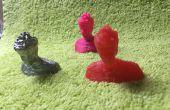Gegossen und Schimmel einen 3D gedruckte Teil