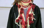 Spaghetti und Fleischbällchen stricken Schal