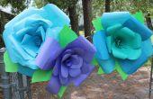Riesige DIY Papier ROSE Blumen!