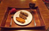 RICOTTA-HACKBRATEN mit Tomaten und WILD CHERRY BRANDY glasiert