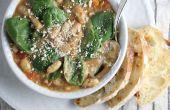 Würzige italienische weiße Bohnen & Wurst Suppe