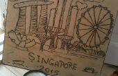 Singapur Solar brennen Kunst