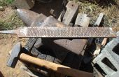 Machen ein großes Lagers Messer aus einem alten Raspel. Teil 1