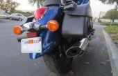 Anzeige eines Motorrades Parkausweis ohne Ihre Lackierung beschädigen!