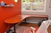 Wiederherstellung einen alten Schreibtisch mit einem neuen Laminatoberfläche