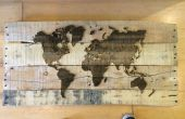 Zusätzliche Palette Holz Laser eingraviert Karte