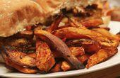 Balsamico-Chili Süßkartoffel Pommes frites