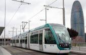 HET VERVOER VAN DE Straßenbahn IN BARCELONA STAD