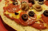 Einfach Focaccia Brot persönliche Pizza