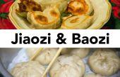 Baozi (Chinesisch gefüllte gedämpfte Brötchen) und Jiaozi (chinesische Knödel) von Grund auf neu