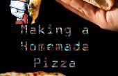Eine hausgemachte Pizza backen